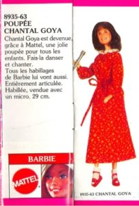 Catalogue avec la poupée Chantal Goya